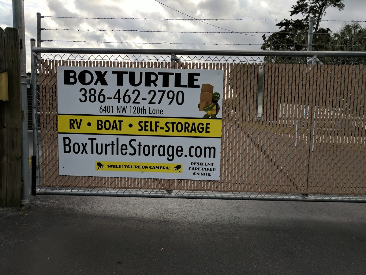 Box Turtle Storage Sign