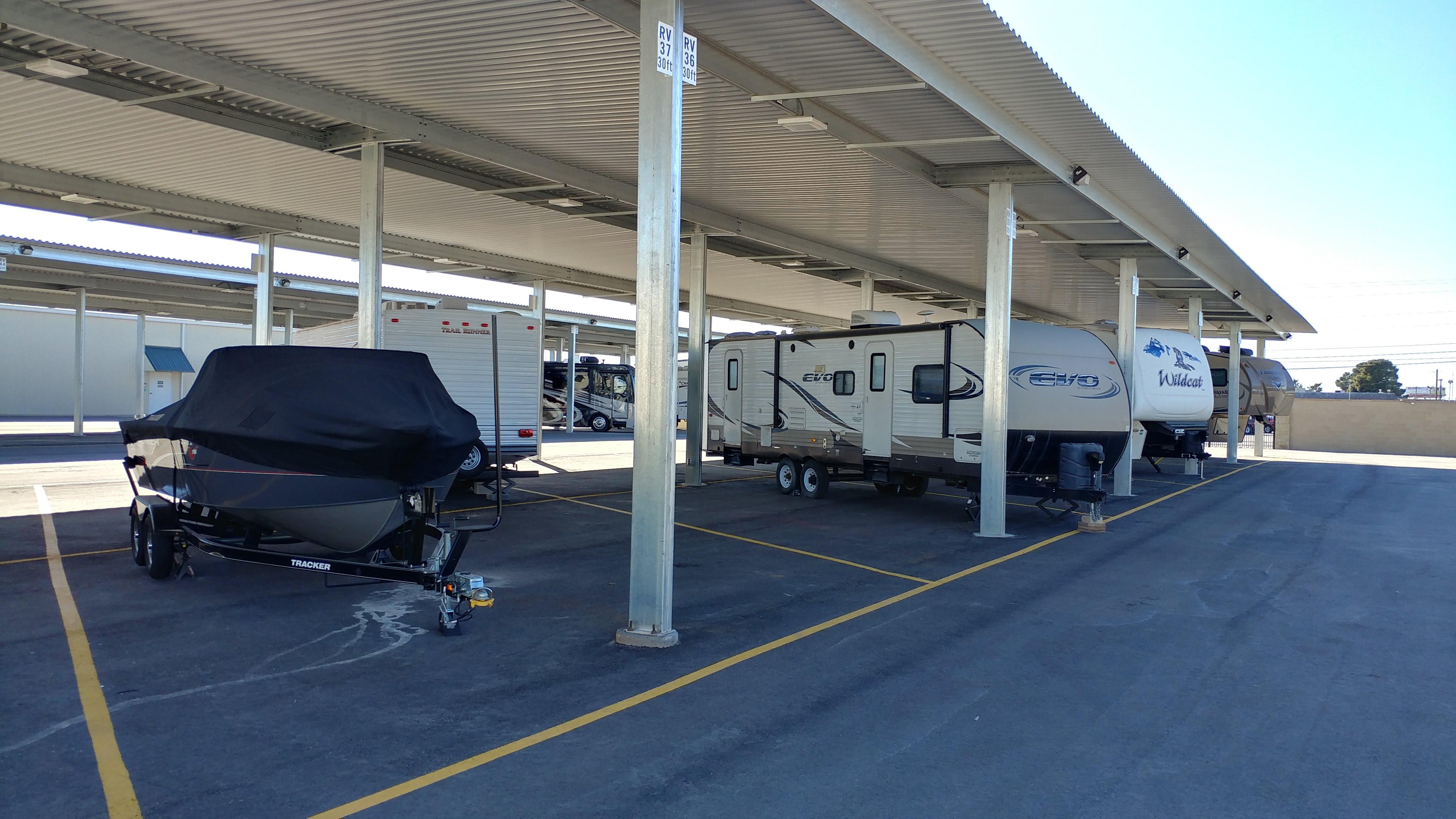 Covered RV Storage in Odessa, TX