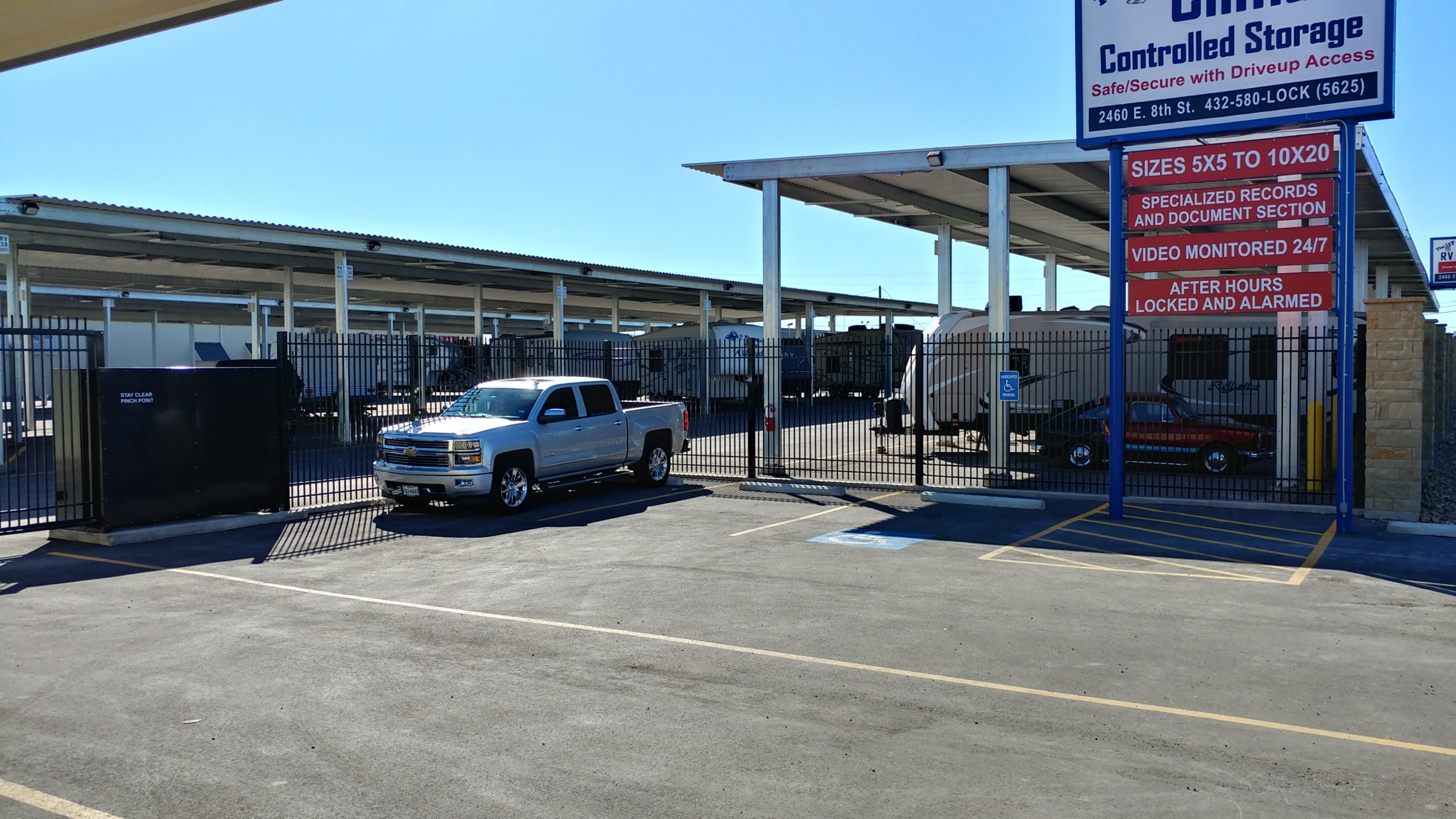 Fenced and Gated Secured Storage Facility in Odessa, TX