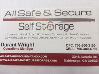 All Safe & Secure Self Storage
